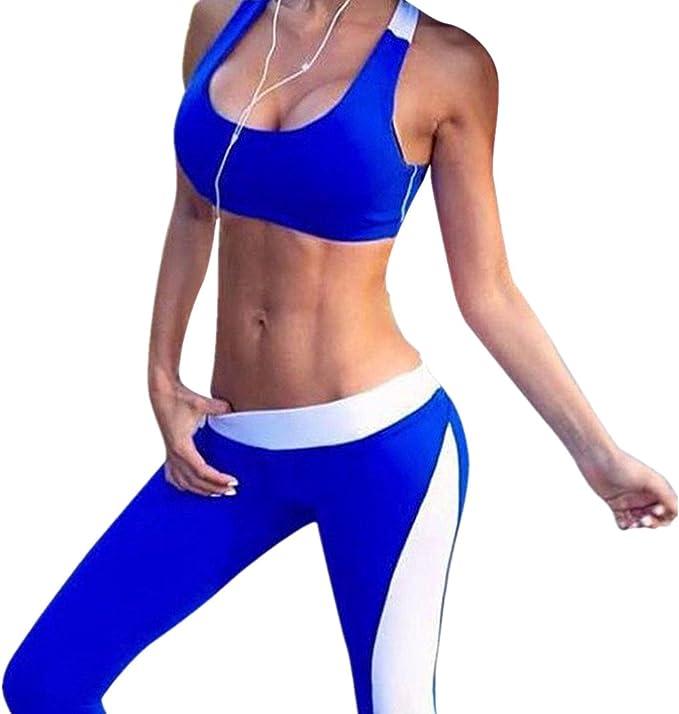 Amazon.com: asatr Mujer Fitness Activewear Juego de brasier ...