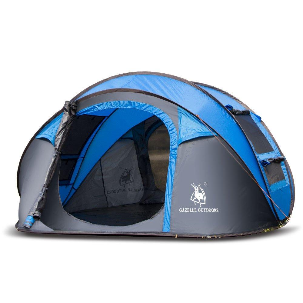 ランフィー 屋外3-4 人キャンプテント自動オープニング単層キャノピー防水抗紫外線サンシェード B07CWMMKCZ