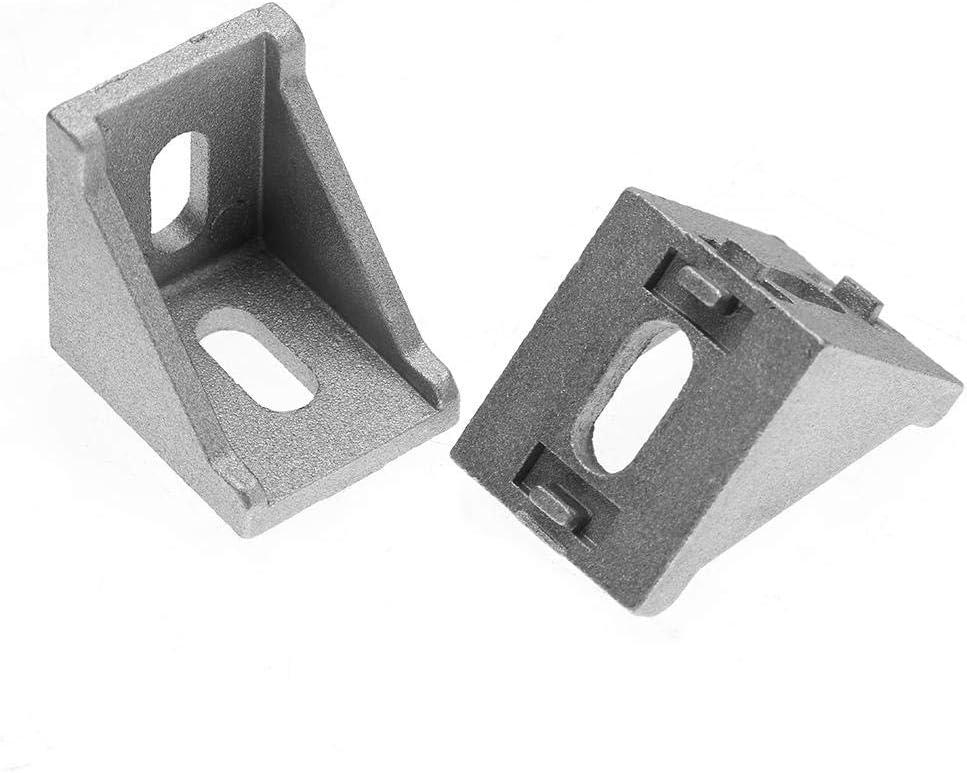 25 st/ücke 4040 Aluminium L Form Extrusionsprofil Eckwinkel Rechtwinklig Klammer Verschlussverbinder