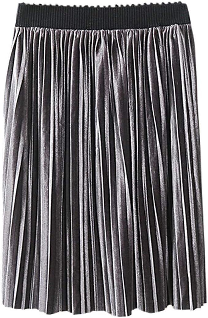 SUCCESS Rock Falda Minifalda Plisada para niña, monocromática ...