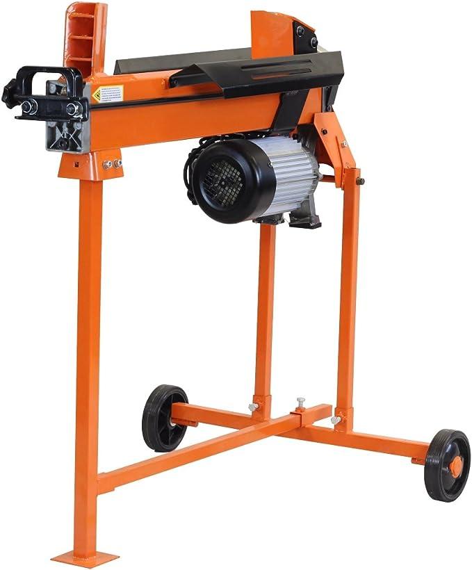 cortadora de troncos de madera hidr/áulica el/éctrica cortador de 3 CV de 6 toneladas con el soporte y doublade