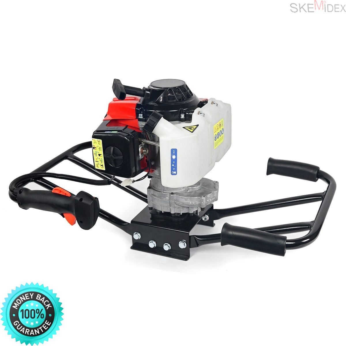SKEMIDEX---EPA 3HP Two 2 Man 63cc Gas Post ice Planting Hole Auger Digger Machine 8'' Ice And ice fishing clearance ice fishing supplies wholesale ice fishing gear for sale ice fishing gear list clear
