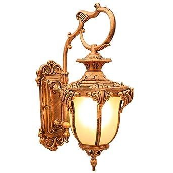 LED lámpara de pared moderna Jardín europeo retro puerta americana exterior lámpara de pared a prueba de agua jardín balcón sala de estar pasillo chino lámpara de pared No Incluye Bombilla: Amazon.es: