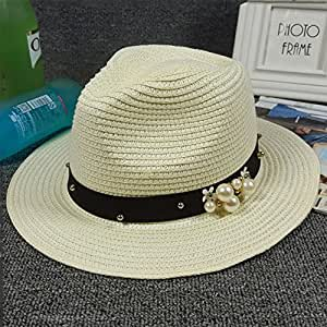 Gaojuan Sombrero de verano para mujer, protección UV, sombrero de sol de verano, visera de playa, suave y transpirable, C