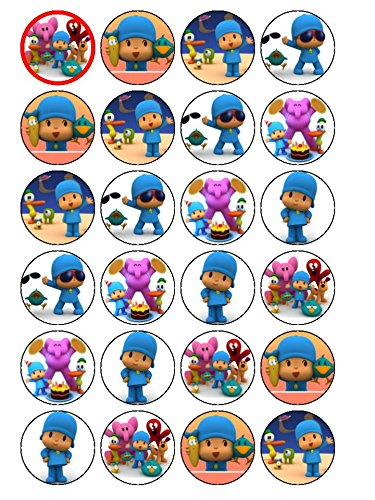 Lote de decoración para cupcakes, diseño de Pocoyo, 24 unidades