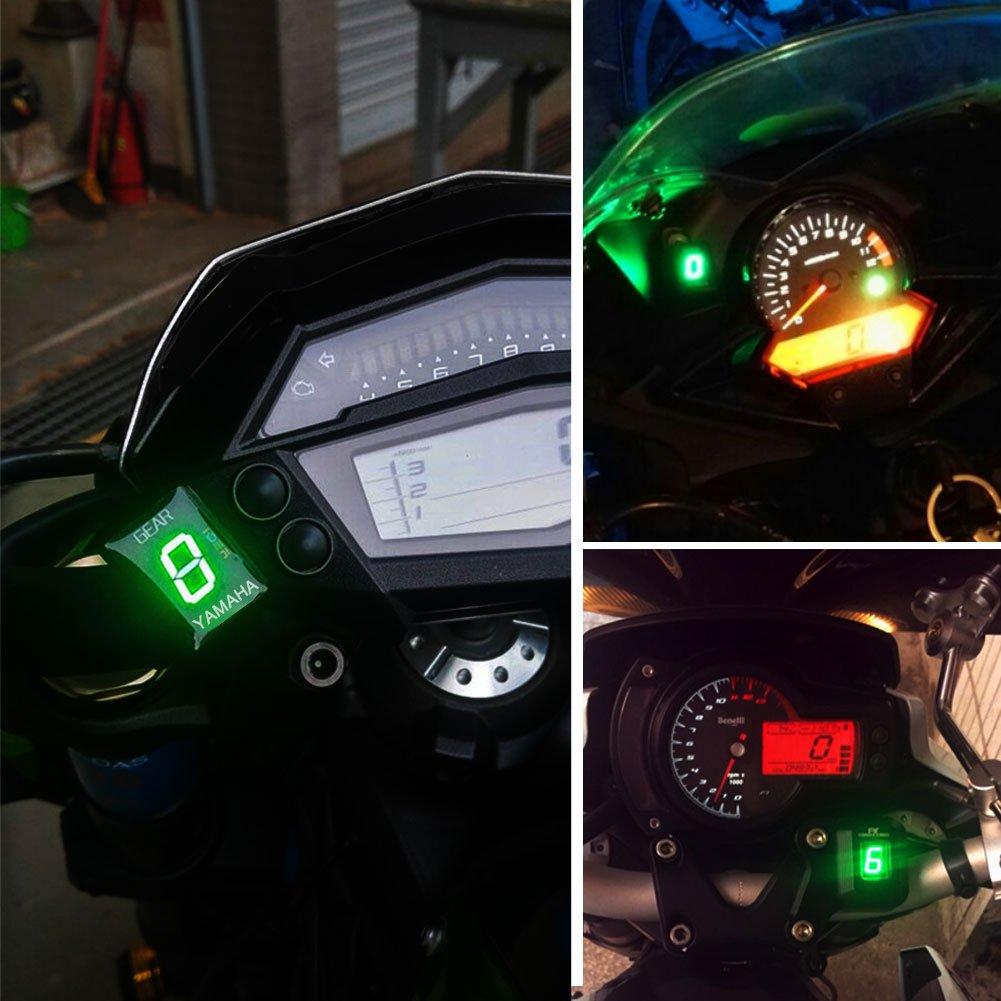 KIMISS Moto ECU Conector Soporte 6 velocidades digital Pantalla Pantalla para Yamaha FZ de 16 FZ de S fz400