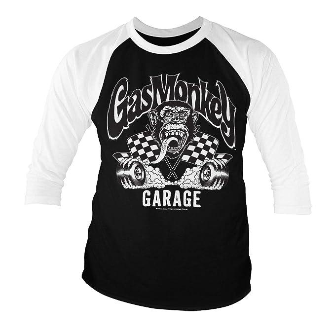 Gas Monkey Garage Official Burning Wheels Playera de béisbol de ...