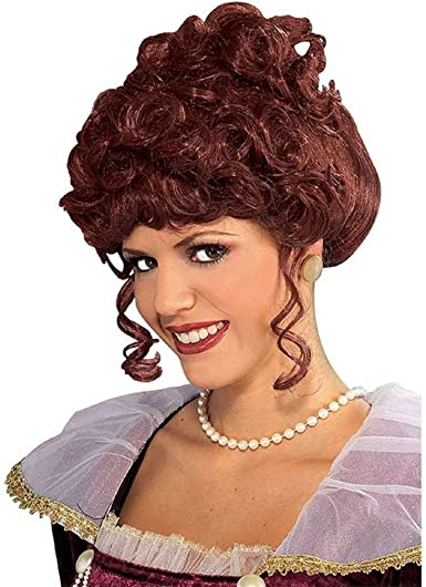 #VICTORIAN LADY WIG BROWN ADULT FANCY DRESS ACCESSORY