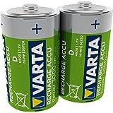 Varta Rechargeable Accu Ready2Use vorgeladnener D Mono Ni-Mh Akku 2er Pack 3000 mAh - wiederaufladbar ohne Memory-Effekt - sofort einsatzbereit (Design kann abweichen)