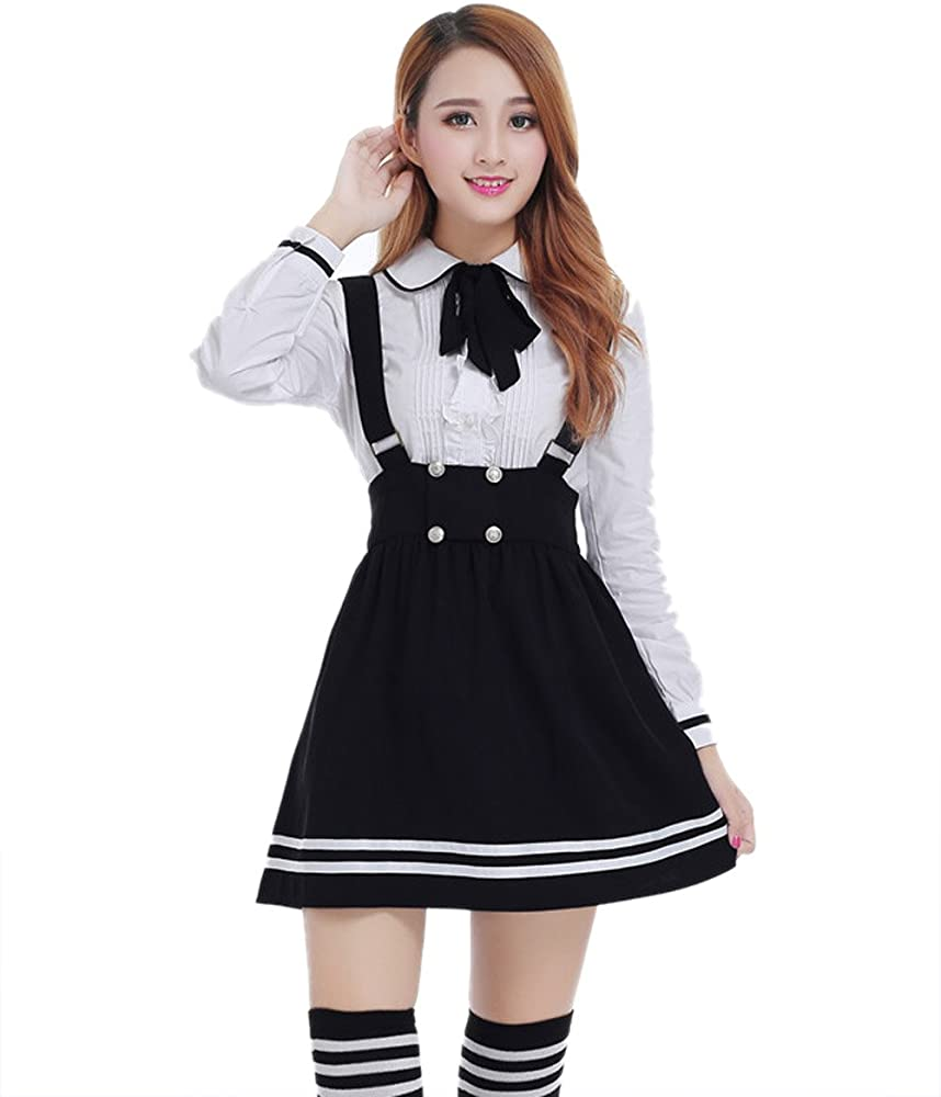 c2871a2e0f Amazon.com: Nuotuo Womens Japanese High School Uniform Sailor ...
