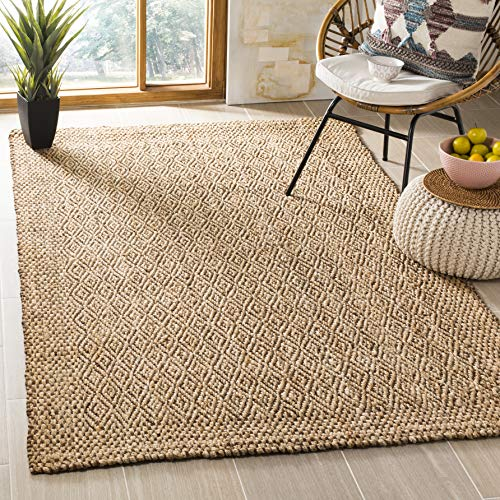 Safavieh Natural Fiber Collection NF183A Hand-Woven Natural Brown Jute Area Rug (4' x ()