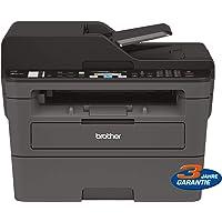 Brother MFC-L2710DW Kompaktes 4-in-1 S/W-Multifunktionsgerät (30 Seiten/Min., Drucken, Scannen, Kopieren, Faxen, A4, echte 1.200x1.200 dpi, Duplexdruck, 250 Blatt Papierkassette, USB 2.0, LAN, WLAN)