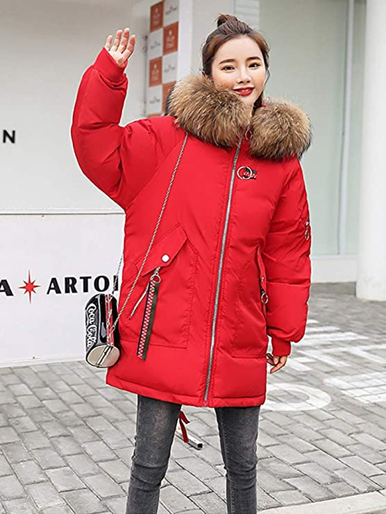 Minetom Doudoune Femme Manteau Chaud Veste /À Capuche Hiver Jacket Blouson Casual Court Coat Mode Parka Hoodies