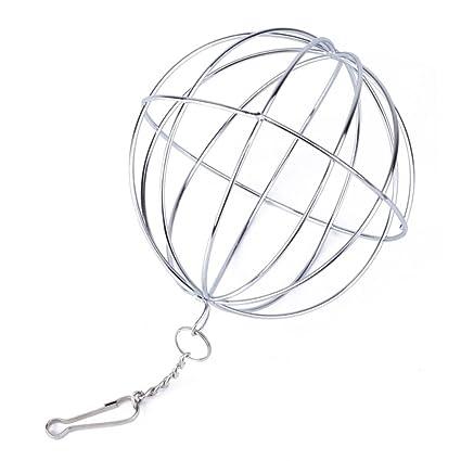 Su-luoyu bola de heno cadena pelota dispensador comida acero inoxidable juguete para hámster conejo