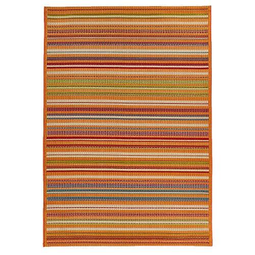 Carpet Art Deco Bellaire Collection Indoor Outdoor Rug, 5'3