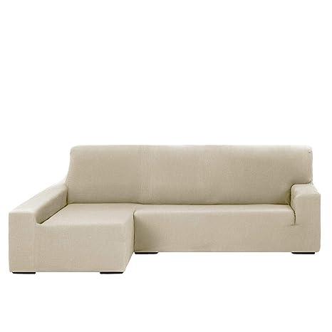Funda Chaise Longue Elástica Modelo Libia, Color Marfil, Medida Brazo Izquierdo – 240-280cm (Mirándolo de Frente)