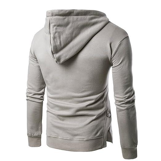 b3fb1152442b4 Veravant Sweat A Capuche Homme Uni Manche Longue Gris Noir Hoodie Pullover   Amazon.fr  Vêtements et accessoires