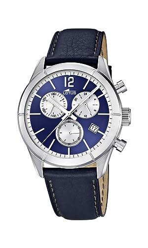 fd8f585d3320 Lotus 15850 7 - Reloj cronógrafo de Cuarzo para Hombre con Correa de Piel