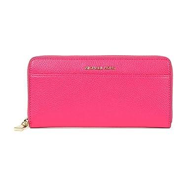 28a0fa4524ebf7 Michael Kors - Mercer Pocket Zip Around Continental Purse, Ultra Pink, OS:  Amazon.co.uk: Clothing