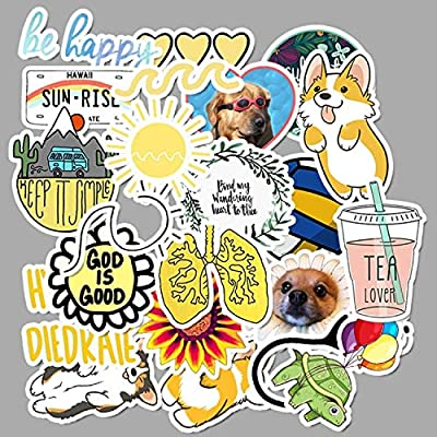 50 PCS Vsco Stickers Pack for Kawaii Girl Things On Laptop Fridge Phone Skateboard Suitcase Waterproof Sticker: Kitchen & Dining