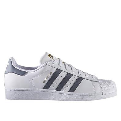 finest selection b4ca1 0508f adidas Superstar Chaussures de Sport pour Homme, Homme, Blanc Gris, 12 UK