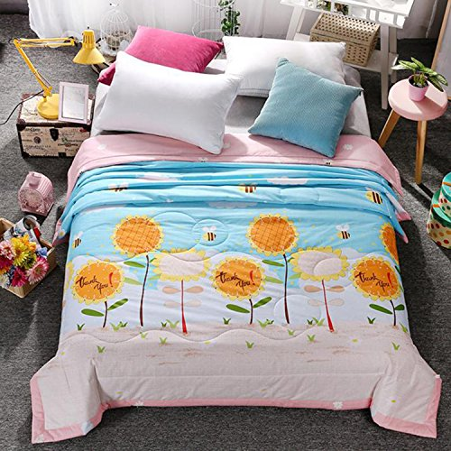 Electric Quilt 5 Software (Kids Students Boys Girls Cotton Comforter Summer Quilt One Piece (Full, Sunflower))
