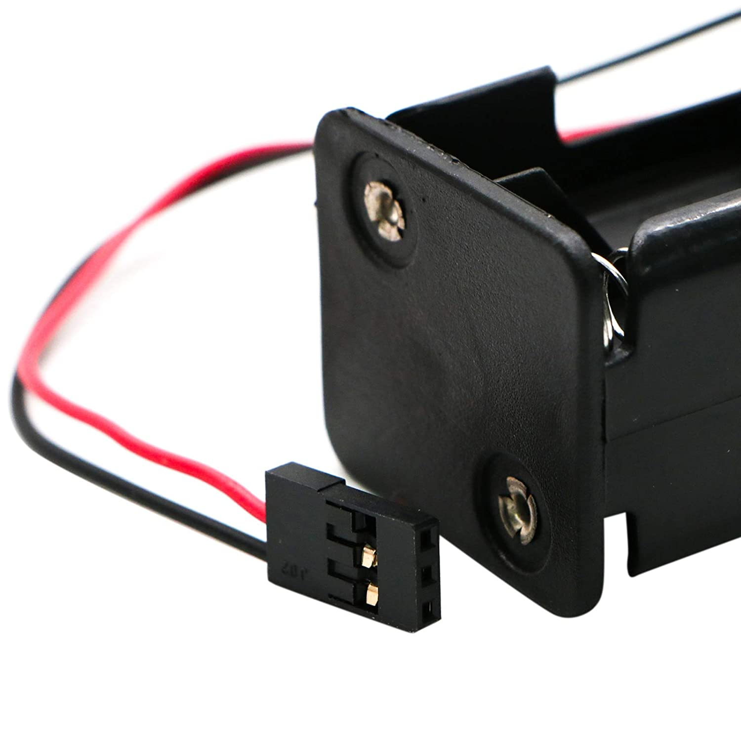 WSSROGY Set of 2 4xAA Battery Holder Case Box Black Wire Leads