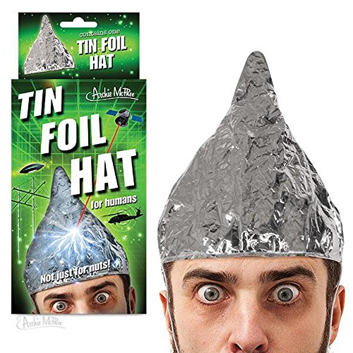 Accoutrements Tin Foil Hat for Conspiracy (Conspiracy Theorist Costume)