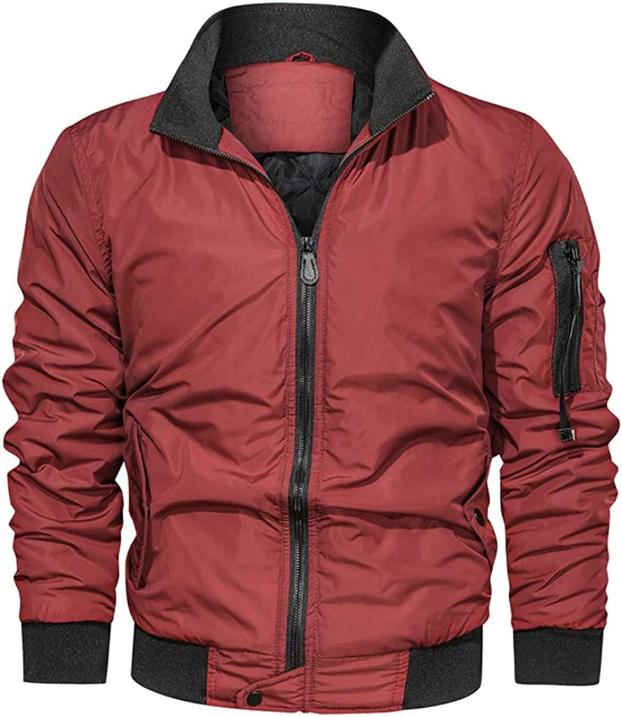 Redacel Mens Winter Casual Military Thicken Multi-Pocket Outwear Jacket Cargo Coat