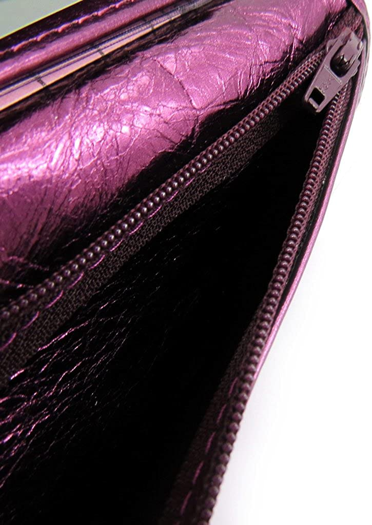 European leather wallet Frandieggplant.