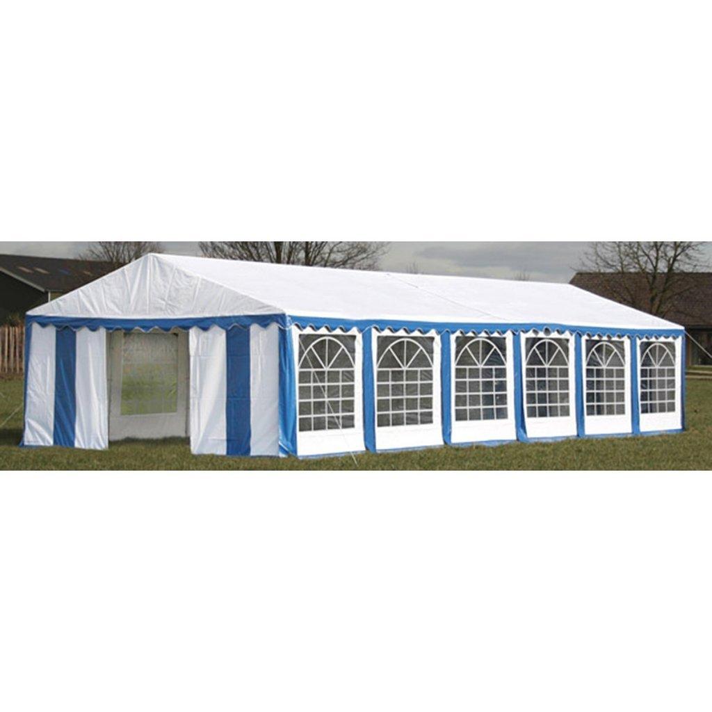 vidaXL Ersatzdach Dachplane Seitenteile Festzelt Party Zelt 12 x 6m Blau&Weiß