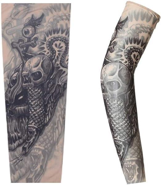 Handaxian 4pcsSports Tattoo Brazo Calentador Manga UV Cool ...