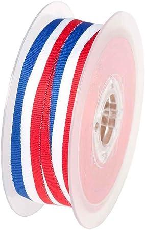 Rollo Cinta bandera francés – 10, 15 o 25 mm, tela, multicolor, 15 mm: Amazon.es: Hogar