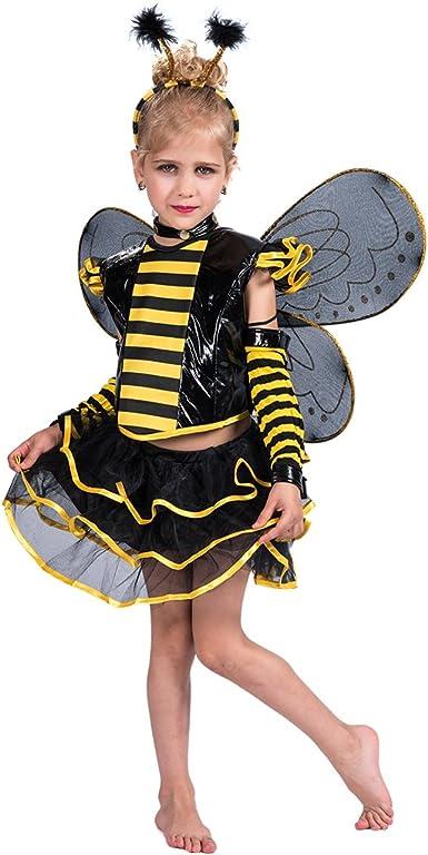 EraSpooky Disfraz Vestido Halloween de Abeja Punky Conjunto para ...
