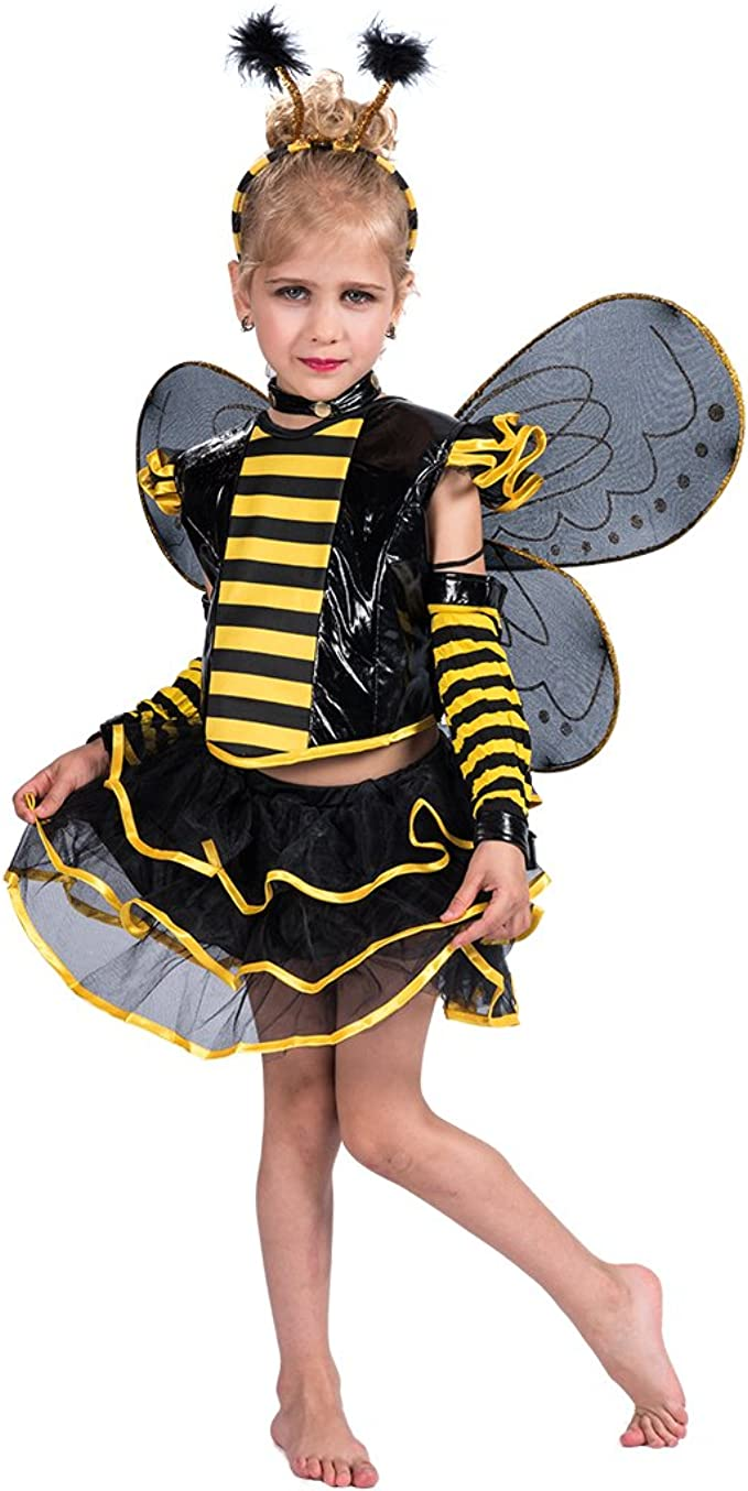 EraSpooky Disfraz Vestido Halloween de Abeja Punky Conjunto ...