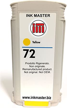 Ink Master - Cartucho compatible para usar en lugar de HP 72 HP72 C9373A yellow: Amazon.es: Electrónica