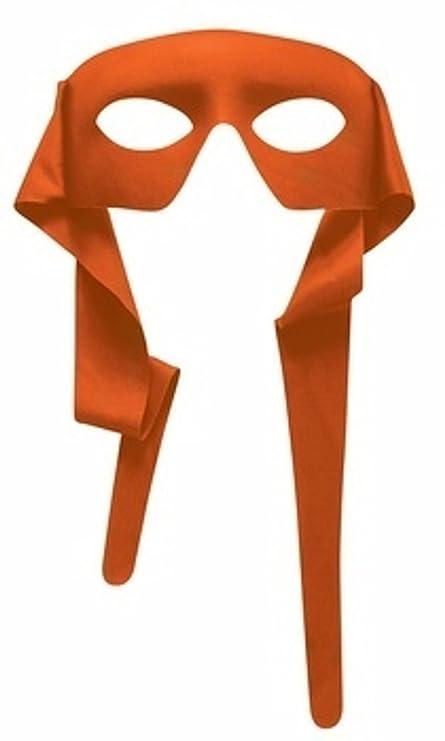 Máscara de ojos de color naranja con los lazos Michelangelo ...