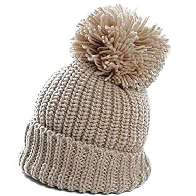 BOLAWOO-77 Beanie Ladies Warm Gorra Winter Mujer Hat para Sencilla ...