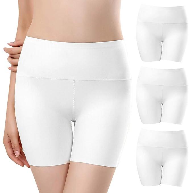 b755f5d4ad6f UMIPUBO Bragas Mujer Sin Costura Boxer Short Leggings Cortos Basic Long  Pantalon Falda Leotardos de Seguridad Ropa Interior Pack de 3