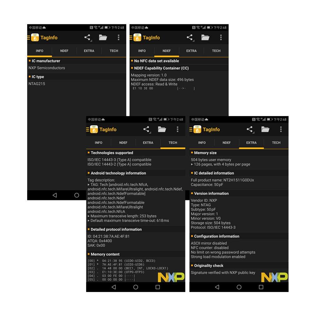 45 unids/Lote NFC NTAG215 Tarjeta PVC AmiiboTagMo Samsung LG Nexus Android Sony para Todos NFC teléfono móvil(45piezas)