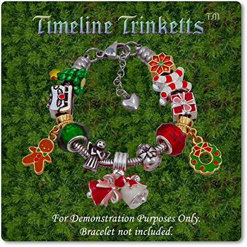 European Charm Bracelet Charms and Beads For Women and Girls Jewelry, Christmas Holiday by Timeline Treasures (Image #3)