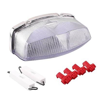 GZYF - Luz trasera LED integrada con intermitentes para ...