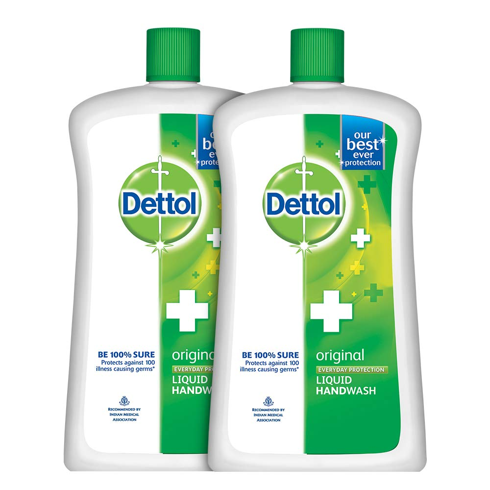 Dettol Original Liquid Soap Jar 900 Ml Pack Of 2 Series Package Health Personal Care