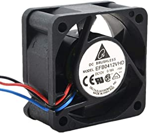CAQL New Quiet Cooling Fan for Dell PowerConnect 6224 6224F 6224P 6248 (XT800) 6248P, 12V 0.18A Delta EFB0412VHD 40x40x20mm