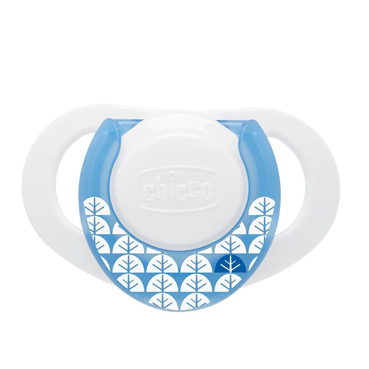 Chicco Physio Compact - Chupete de látex/caucho para 0-6 meses, color azul