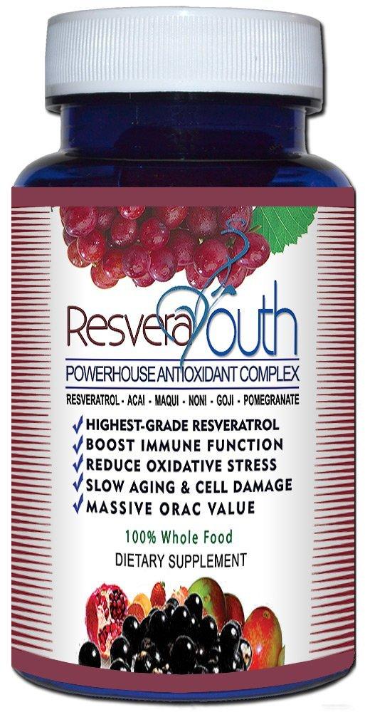 Resvera Youth Antioxidant Antiaging Formula 60 Caps - 5 Pack