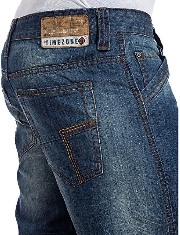 Timezone CesareTZ męskie jeansy relaksujące: Odzież
