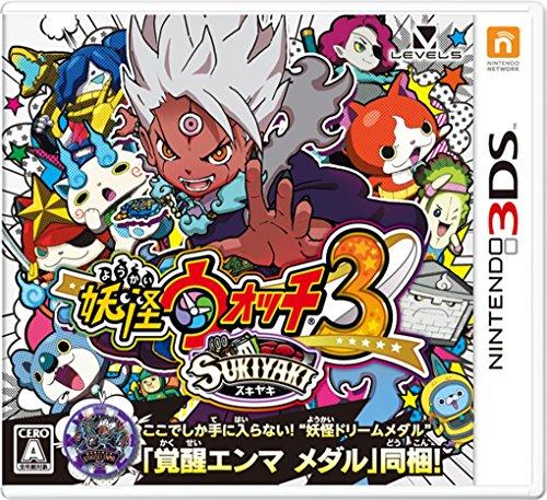 Nintendo-3DS-Yokai-Watch-3-SUKIYAKI-Included-Awakening-Enma-Medal-Japanese-edition