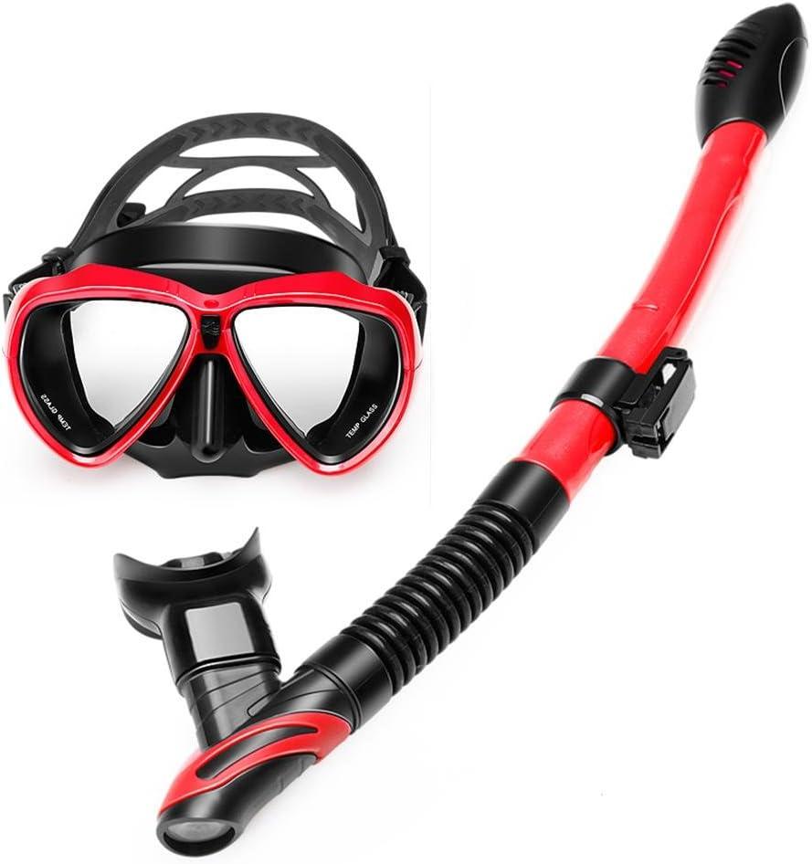 MIAO Kit de máscara y tubo para snorkelling, Anti-niebla y Anti ...