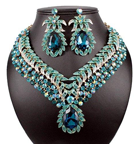 Bridal Austrian Crystal Rhinestone Necklace - 4